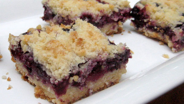 Blueberry Ice Squares