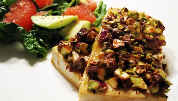 "Pistachio-Crusted ""ICED"" Dijon Tofu-Vegan & Gluten-Free"