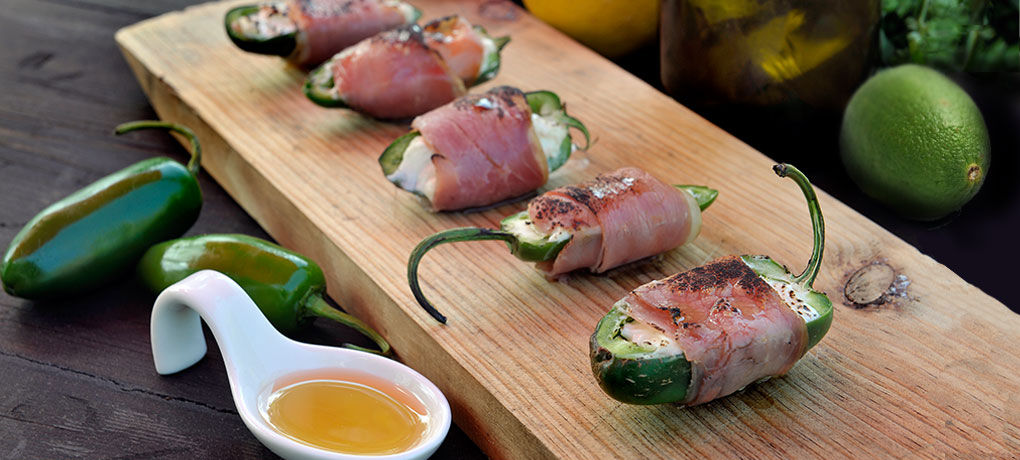Prosciutto wrapped Jalapeno Poppers